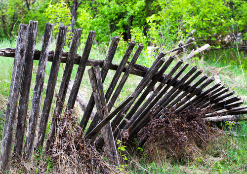 Old Fence Removal by The Junkluggers of Southern LA County